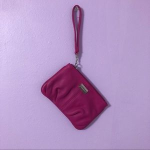 Express Pink Clutch Wristlet Wallet Leather